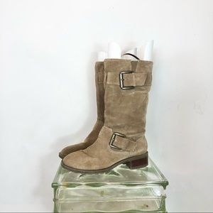 Jessica Simpson Tan suede slouch boho boots 7.5